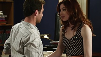 Awesome office sex pleasuring with Stoya and James Deen. Awesome office sex pleasuring with Stoya and James Deen