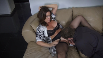 Rachel Steele, hot mom, makes magic with her pussy on younger cock. Rachel Steele, hot mom, makes magic with her pussy on younger cock