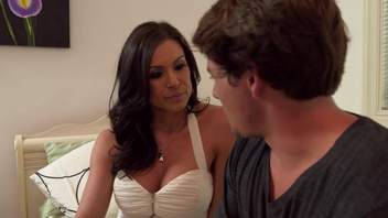 Young stud charms Kendra Lust with wicked pussy licking. Young stud charms Kendra Lust with wicked pussy licking