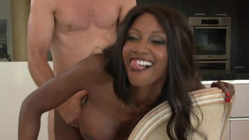 Sweet ebony housewife, Diamond Jackson, rides the white dick with lust. Sweet ebony housewife, Diamond Jackson, rides the white dick with lust