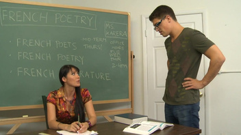 Hot teacher Eva Karera gives explicit classroom lessons. Hot teacher Eva Karera gives explicit classroom lessons