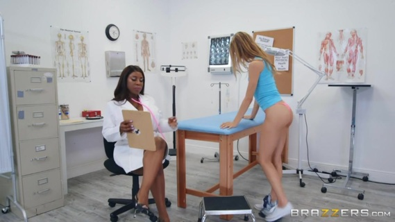 Asuna Fox, Maserati in Paging Dr. Maserati. When busty doctor Maserati discovers that her hot patient Asuna has never had an orgasm, she decides to give her a helping hand, fingering and licking her pussy until she cums for the first time in her entire life. As it turns out, it's just what the doctor ordered!