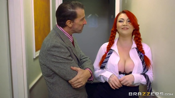 Redhead with huge tits delights with cock deep in her throat. Redhead with huge tits delights with cock deep in her throat