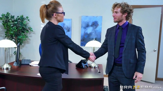 Job interview turns into a wild fuck for blonde cougar with big tits. Job interview turns into a wild fuck for blonde cougar with big tits