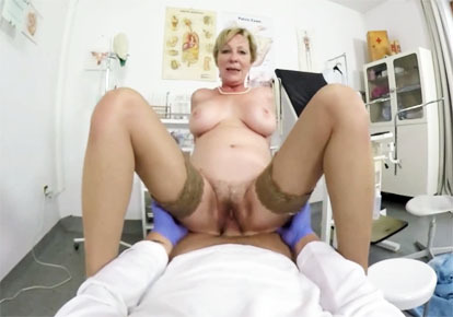 Mature woman italian doctor