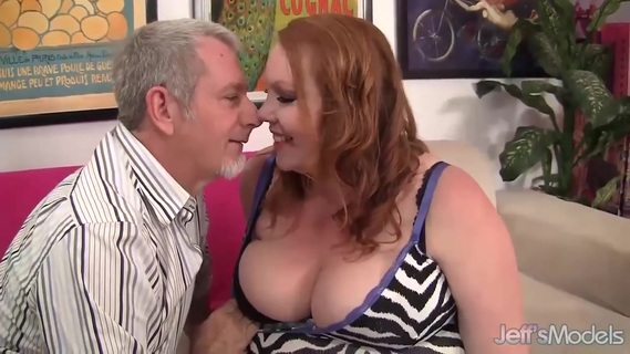 Chubby Redhead Annabel Redd Gets Her Mouth and Pussy Plowed by a Fat Cock. Sexy BBW gets her tits sucked good Then she gets her plump pussy fucked hard and deep in many positions She gives a nice blowjob and tit fuck too She gets her pussy licked He cums in her mouth