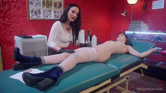 Veruca James & Charlotte Sartre in Slut For Life - WhippedAss. Smokin' hot tattoo artist Veruca James tests young slut's commitment to provocative tattoo ideas with spanking, tons of pussy licking, finger banging, face sitting, clothespins, bondage, caning, and pussy and anal strap-on fucking!