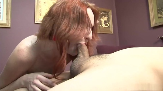 Exotic pornstar Audrey Lords in crazy fetish, hd adult scene. Audrey Lords is a foul mouth, feisty, long haired redhead, who wastes no time taking off her clothes, including her bra and panties, allowing you to see her small hooters and mostly shaved snapper, while she gets down on her knees to give this guy a deepthroat blowjob, along with giving him a footjob for a cumshot but along the way, she bits his cock.