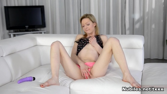Betty Lynn in Pink Panties - Nubiles. 20 year old Hungarian coed Betty Lynn is having a great time caressing her hands over her small tits and swinging her little booty back and forth. After peeling.