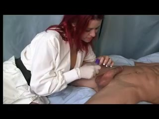Redhead gives prostate massage. Redhead gives prostate massage