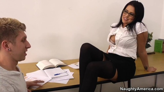 Lacie James & Danny Wylde in My First Sex Teacher. Danny is studying for his test, but he never knew how complicated the female anatomy could be. His smoking hot teacher, Professor James, gives him a tip: he's not going to learn much just by sticking his nose in a textbook. The good professor decides to give Danny a one-on-one lesson using a more hands-on