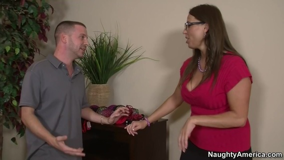 Stacie Starr & Tony Rubino in My Friends Hot Mom. Tony goes to his buddy's house looking for him, but he's nowhere to be found. Thinking he's alone, he creeps his way to his pal's mom's room to sniff on some of her panties. But MILF Stacie Starr hears someone in her home, and she catches her son's friend putting her panties in his pocket! Instead of kicking his ass and booting him out the door, the brunette mom rips her clothes off, pulls out Tony's dick and sucks it until it's ready to go up her wet pussy!