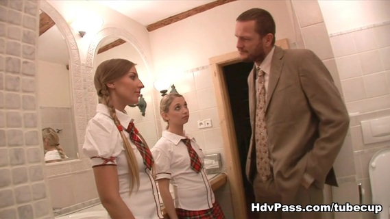 Mina Lee,Morgan Moon in School Girls Blows And Fucks For Grades. Slutty, small tits schoolgirls Morgan and Mina sees absolutely nothing wrong in blowing and fucking their science teacher's super sized dick for higher grades!