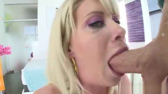 Godly busty experienced woman Riley Jenner is sucking cock. Riley Jenner