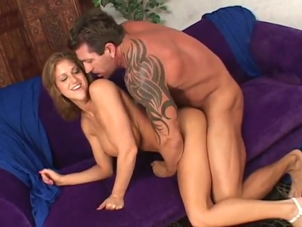 Eve Lawrence takes cock in her face, cunt, and between tits. Lee Stone,Eve Laurence