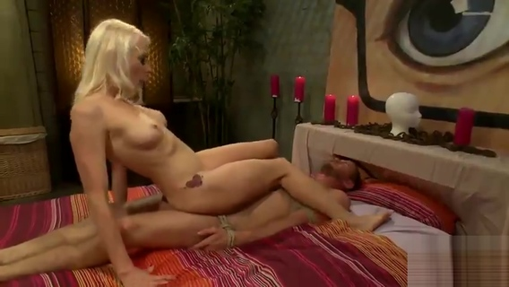 Blonde makes a tied guy fuck her. Lorelei Lee,Drake Temple