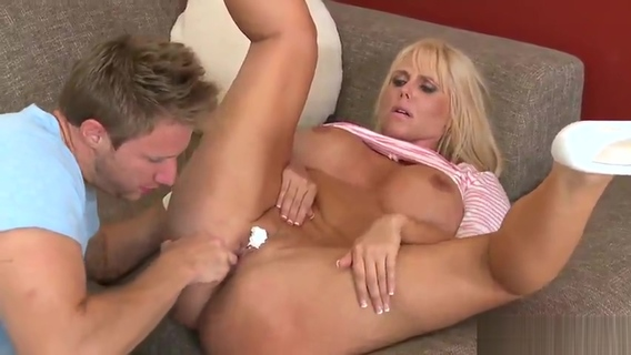 Aged female Karen Fisher with hot fat ass in hard fuck porno. Karen Fisher