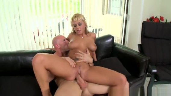Enticing fair-haired Briana Blair is giving a blowjob. Johnny Sins,Briana Blair