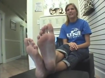 Big feet...do you think she is ticklish (That Guy). Big feet...do you think she is ticklish (That Guy)