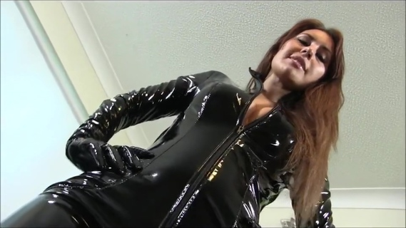 lady in pvc catsuit. lady in pvc catsuit