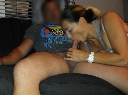 hot milf sucks his dick so hard. hot milf sucks his dick so hard