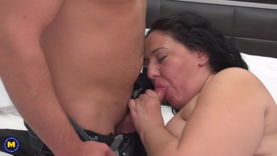 Chubby housewife, Melany likes lying on the bed, while a horny guy is licking her wet pussy. Chubby housewife, Melany likes lying on the bed, while a horny guy is licking her wet pussy